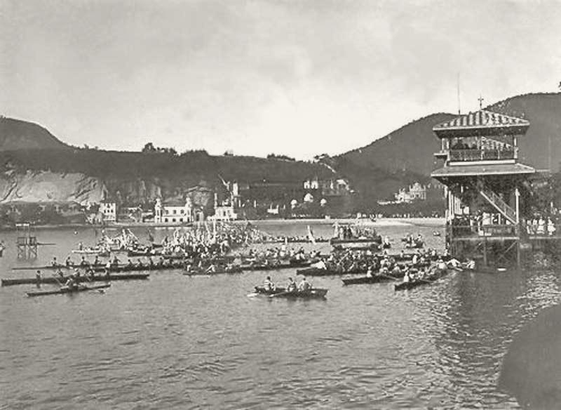 O pavilhão de regatas na enseada de botafogo